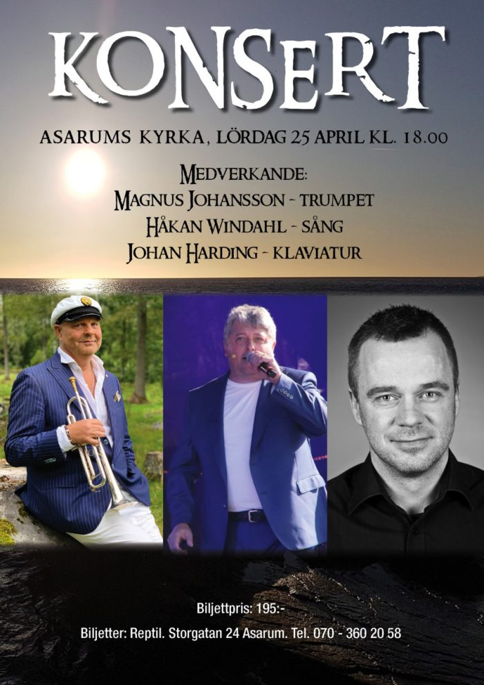 Konsert 25 april i Asarums kyrka